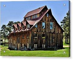 The Aldefer Barn Acrylic Print by Leianne Wilson