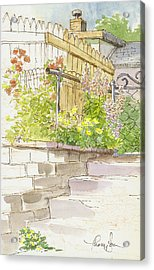 The Alley Stairway Acrylic Print by Tracie Thompson