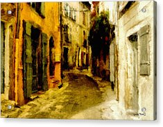 The Alley Acrylic Print by Wayne Pascall