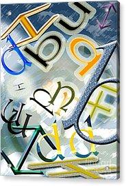 The Alphabetics Acrylic Print