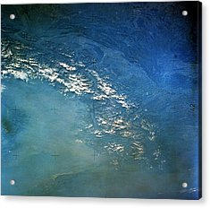 The Alps From Space Acrylic Print by Anonymous