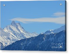 The Alps In Azure Acrylic Print