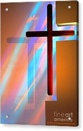 The Amazing Cross Acrylic Print by JCYoung MacroXscape