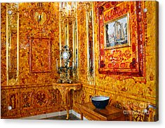 The Amber Room At Catherine Palace Acrylic Print