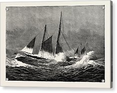 The American Fisheries Question, Fishing Schooner Icing Acrylic Print