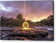 The American River Orb Acrylic Print by Lee Harland