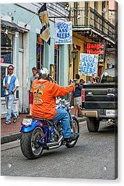 The American Way - Harleys Pickups And Huge Ass Beers Acrylic Print by Steve Harrington