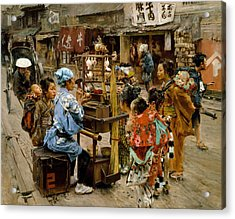 Acrylic Print featuring the painting The Ameya by Robert Frederick Blum