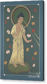Acrylic Print featuring the painting The Amitabha Buddha Descending 247 by William Hart McNichols