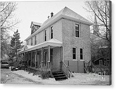 the ananda arthouse in the former st josephs rectory in Forget Saskatchewan Canada Acrylic Print by Joe Fox