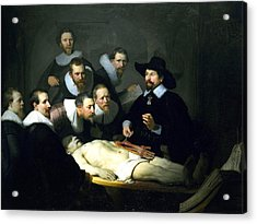 The Anatomy Lesson Acrylic Print by Rembrandt