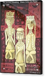 Acrylic Print featuring the painting The Ancient Wedding by Fei A