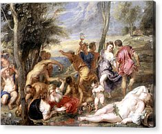 The Andrians A Free Copy After Titian Acrylic Print