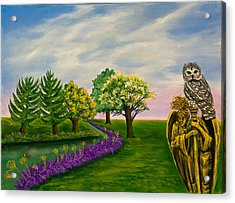 The Angel And The Owl Acrylic Print