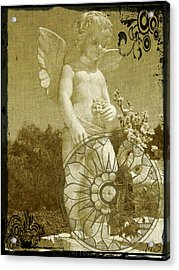 The Angel - Art Nouveau Acrylic Print by Absinthe Art By Michelle LeAnn Scott