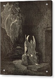 The Angel At The Sepulchre Acrylic Print by Antique Engravings
