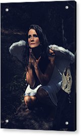 The Angel Prayed Acrylic Print by Laurie Search