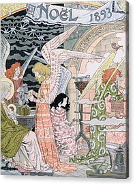 The Angels Kitchen Acrylic Print by Eugene Grasset