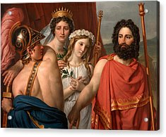 Acrylic Print featuring the painting The Anger Of Achilles by Jacques-Louis David