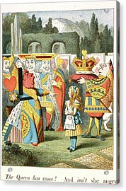 The Angry Queen. The Queen Of Hearts. Acrylic Print by British Library