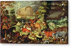 The Animals Entering The Ark Acrylic Print by Jacob II Savery