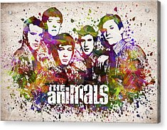 The Animals In Color Acrylic Print by Aged Pixel