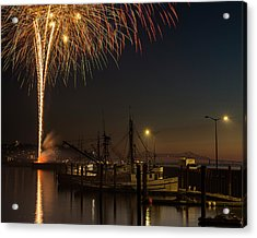 The Annual July Fourth Fireworks Acrylic Print by Robert L. Potts