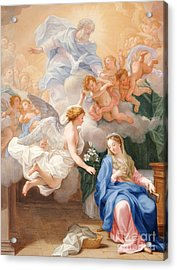 The Annunciation Acrylic Print by Giovanni Odazzi