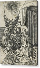 The Annunciation Acrylic Print by Martin Schongauer
