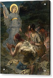 The Annunciation To The Shepherds Acrylic Print by Jules Bastien-Lepage