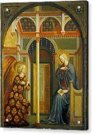 The Annunciation Acrylic Print by Tommaso Masolino da Panicale