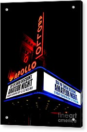 The Apollo Theater Acrylic Print by Ed Weidman