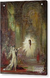The Apparition Acrylic Print by Gustave Moreau