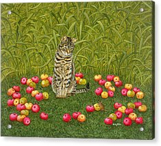 The Apple Mouse Acrylic Print by Ditz