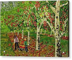 The Apple Pickers Acrylic Print