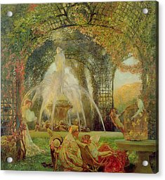 The Arbor Acrylic Print by Gaston De la Touche