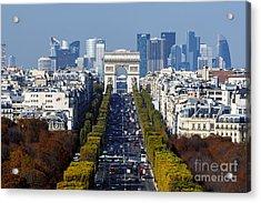 The Arc De Triomphe Paris France Acrylic Print