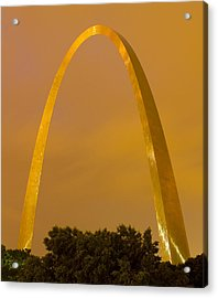 The Arch In The Glow Of St Louis City Lights At Night Acrylic Print