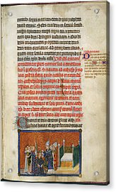 The Archbishop Crowns The King Acrylic Print by British Library