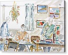 The Art Club Acrylic Print by Phong Trinh