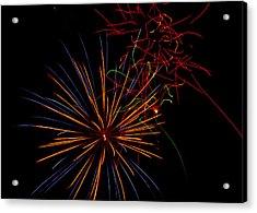 The Art Of Fireworks  Acrylic Print by Saija  Lehtonen