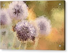 The Art Of Pollination Acrylic Print by Peggy Collins