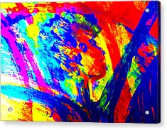 If The Artist Rules The World How Would It Be Would Ti Be Nice Or Would It Kill You   Acrylic Print by Hilde Widerberg