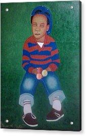 The Artist Acrylic Print by Steven Taylor