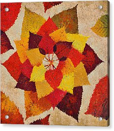 The Artistry Of Fall Klimt Homage Acrylic Print by Angelina Vick