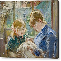 The Artists Daughter Acrylic Print by Berthe Morisot