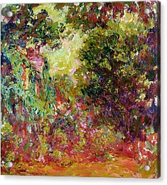 The Artists House From The Rose Garden Acrylic Print by Claude Monet