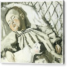 The Artist's Son Asleep Acrylic Print