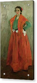The Artists Wife Dressed As A Spanish Woman Acrylic Print by Alexej von Jawlensky