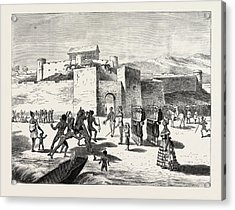 The Ashantee War, Arrival Of The Governor At Cape Coast Acrylic Print by African School
